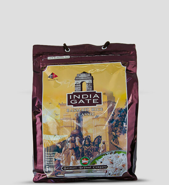 India Gate Classic Prem Basmati Rice 5kg