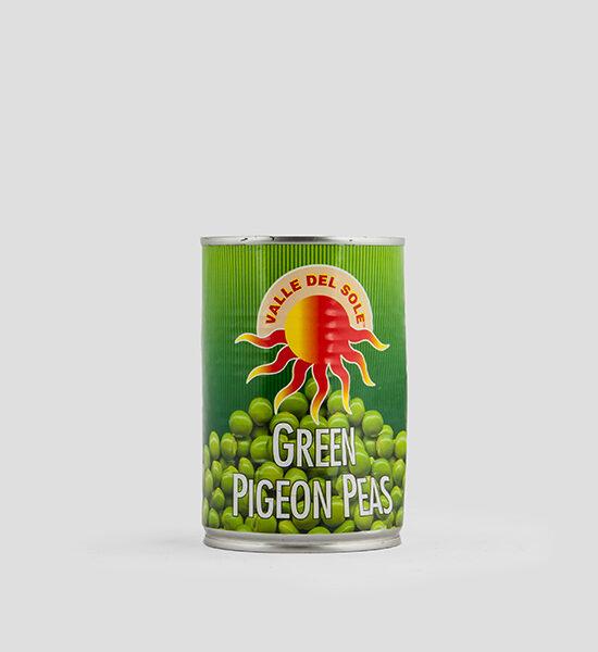 VDS, Green Pigeon Peas, Grüne Erbsen, 425g, Spicelands