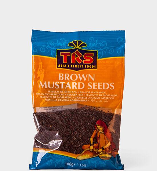 TRS, Brown Mustard Seeds, 100g, Spicelands