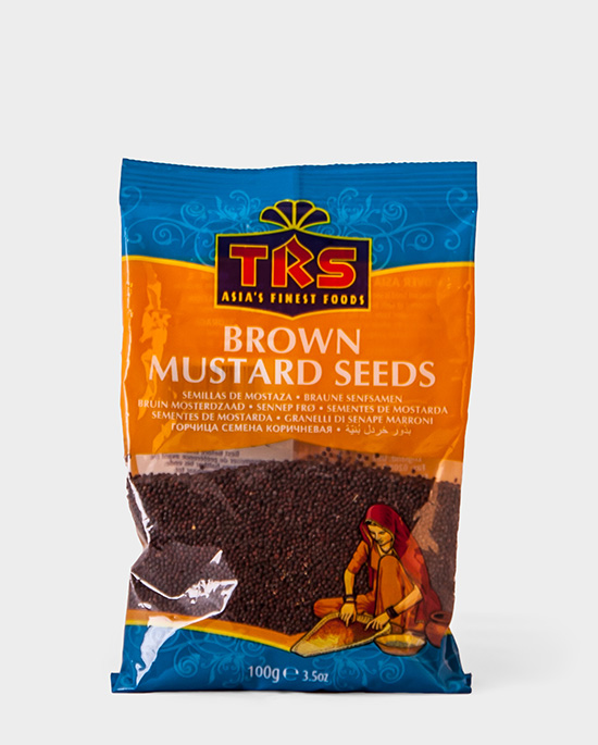 TRS, Brown Mustard Seeds, 100g, Spicelands