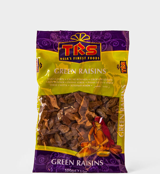 TRS, Green Raisins, 100g, Spicelands