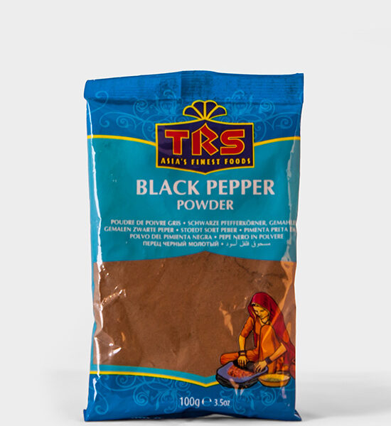 TRS, schwarzer Peffer Powder, Black Pepper Powder 100g, Spicelands