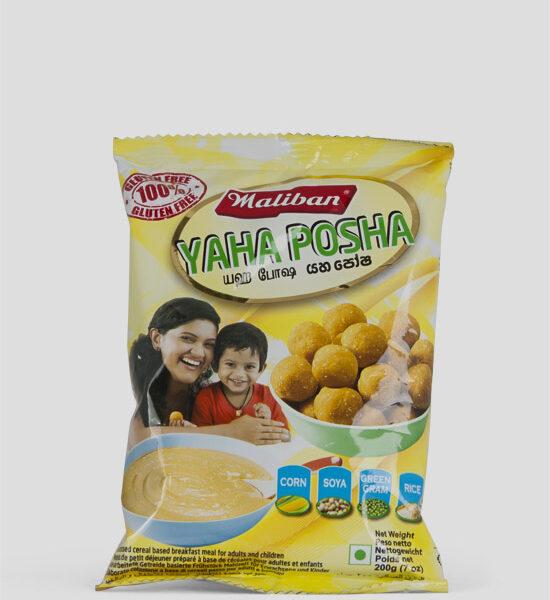 Maliban, Yaha Posha, 200g Produktbeschreibung Verarbeitetes Getreide für Frühstück, Processed Cereal based breakfast meal. 100% Gluten Free., Spicelands
