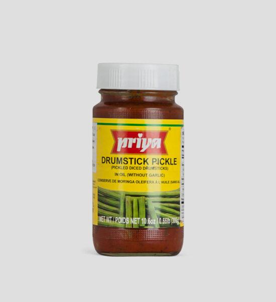 Priya, Drumstick Pickle, 300g Produktbeschreibung Drumstick Pickle in Oil without Garlic.