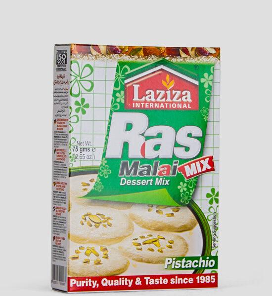 Laziza Rasmalai Mix Saffron, Süße Mischung mit Pistazien, 75g Produktbeschreibung Desser Mix, Süße Mischung mit Pistazien für Milchbälchen in Sirup, Spicelands, Frankfurt