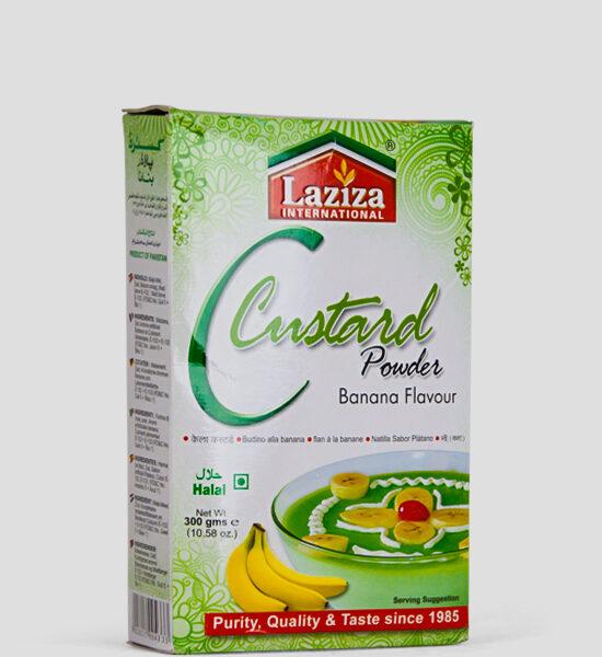 Laziza Custard Powder, Banana Flav, 300g Produktbeschreibung Puddingpulver Banana Geschmack, Spicelands