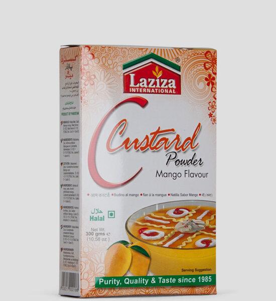 Laziza Custard Powder, Mango Flav, 300g Produktbeschreibung Puddingpulver Mango Geschmack,Spicelands