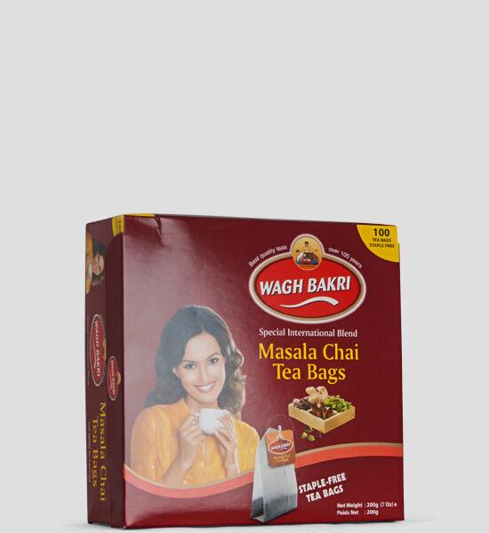 Wagh Bakri, Masala Tea, Schwarzer Tee mit Gewürzen aromatisiert, 100 Tea Bags, Spicelands