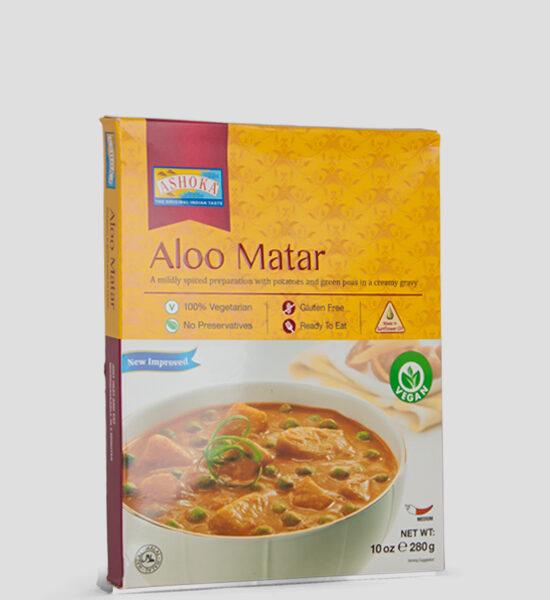 Ashoka, Aloo Matar, 280g Produktbeschreibung Fertiggericht 100% Vegetarisch, Glutenfree, ohne Zusatzstoffe.