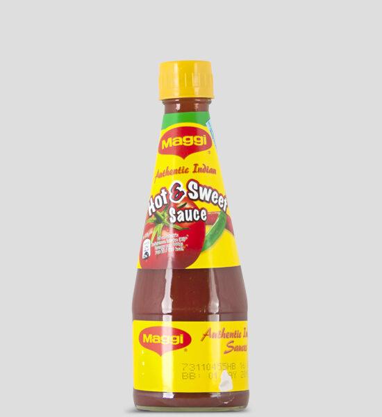 Maggi, Hot & Sweet Sauce, 330ml Produktbeschreibung Maggi Authentic Indian Sauce, Scharf und Süß gewürzte Sauce die perfekte Ergänzung für ihr Gericht oder Snack.