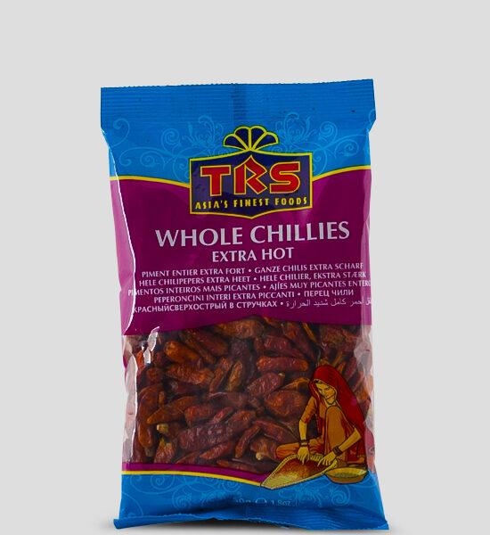 TRS, Whole Chillies extra Hot, ganze Chillis extra Scharf, 50g Produktbeschreibung Ganze Chillis extra scharf