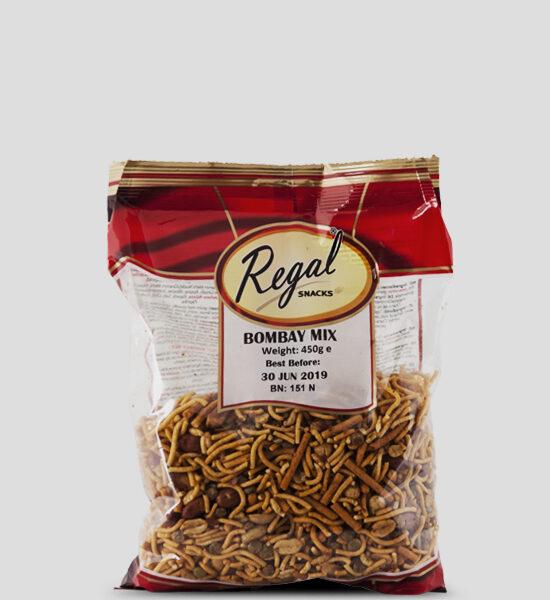 Regal, Bombay Mix, 450g Produktbeschreibung Ready to Eat Snacks. Knusprige Indische Chips.