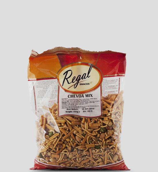 Regal, Chevda Mix, 450g Produktbeschreibung Ready to Eat Snacks. Knusprige Indische Chips.