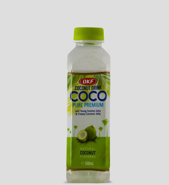 Produktbeschreibung Getränk mit Kokosnuss Geschmack.