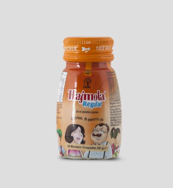 Hajmola, Regular, 66g Produktbeschreibung Hajmola Regular sind Tabletten, die man nachdem essen einnimmt um die Verdauung anzukurbeln.