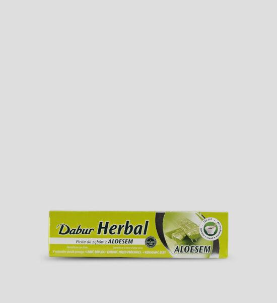 Dabur, Herbal Toothpaste, 130g Produktbeschreibung Die vegetarische Dabur Herbal Zahnpasta mit Aloe Vera sorgt für starke gesunde Zähne & Zahnfleisch. Hilft auf natürliche Weise das Zahnfleisch zu beruhigen und die Zähne zu kräftigen.