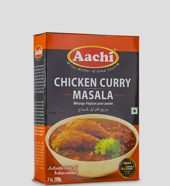 Aachi Chicken Curry Masala 200g Produktbeschreibung Gewürzmischung für Hühnchen Curry Masala - Make authentic & savory Chicken Curry with this easy to use spice mix.