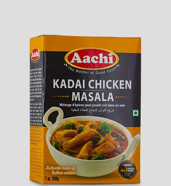 Aachi Kadai Chicken Masala 200g Produktbeschreibung Gewürzmischung für Kadai Chicken Gericht - Make authentic & savory Kadai Chicken with this easy to use spice mix.