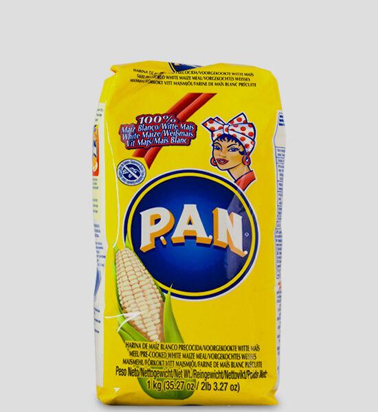 Harina P.A.N. Blanco Produktbeschreibung Weisses Maismehl vorgekocht Zutaten und Allergene Weisses Maismehl (vorgekocht). Dieses Produkt enthält gen modifizierten Mais. Kann spuren von Soja enthalten.