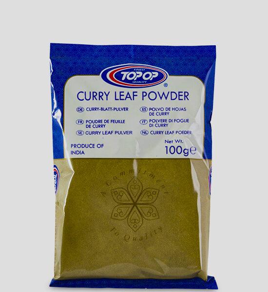 Topop Curry Leaves Powder 100g Produktbeschreibung Curryblätter in Pulverform zum aromatisieren zahlreicher Speisen geeignet.