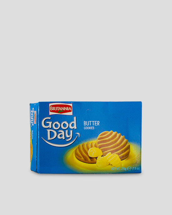 Britannia Good Day Butter Cookies 216g Produktbeschreibung Britannia Good Day Butter Cookies with its delightful aroma and crunchy cookie bite.