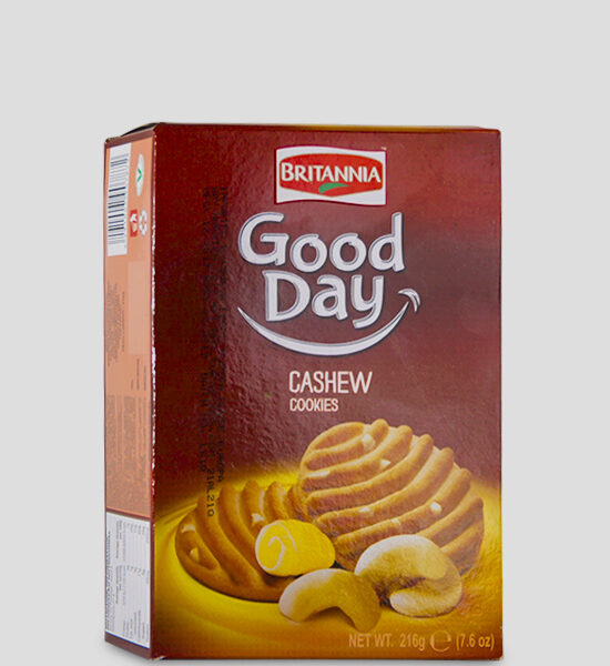 Britannia Good Day Cashew Cookies 216g Produktbeschreibung Britannia Good Day Cashew Cookies with its delightful aroma and crunchy cookie bite. Your favourite cookies here at spicelands.de