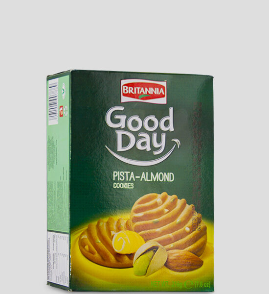 Britannia Good Day Pista Almonds Cookies 216g Produktbeschreibung Britannia Good Day Pista Almonds Cookies with its delightful aroma and crunchy cookie bite. Your favourite cookies here at spicelands.de