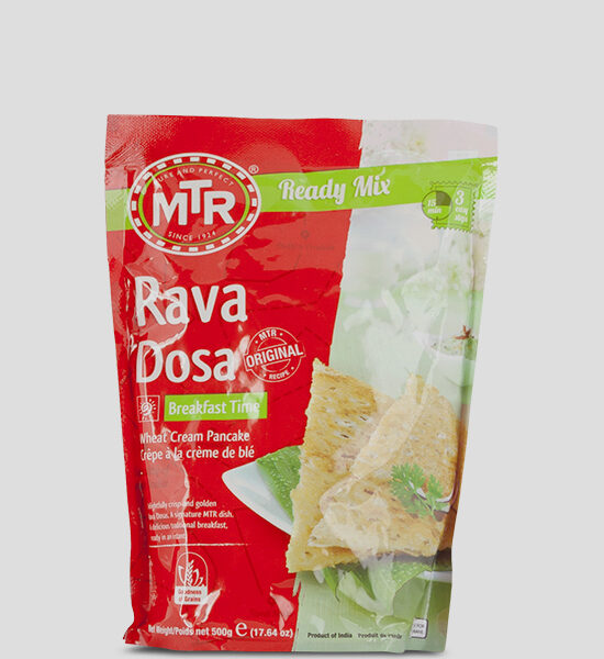 MTR Rava Dosa Mix 500g Produktbeschreibung Rava Dosa Mix - Spice up your dish with this authentic Rava Dosa Mix.