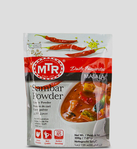 MTR Sambar Powder 200g Produktbeschreibung Sambar Powder - Spice up your dish with this authentic sambar powder.