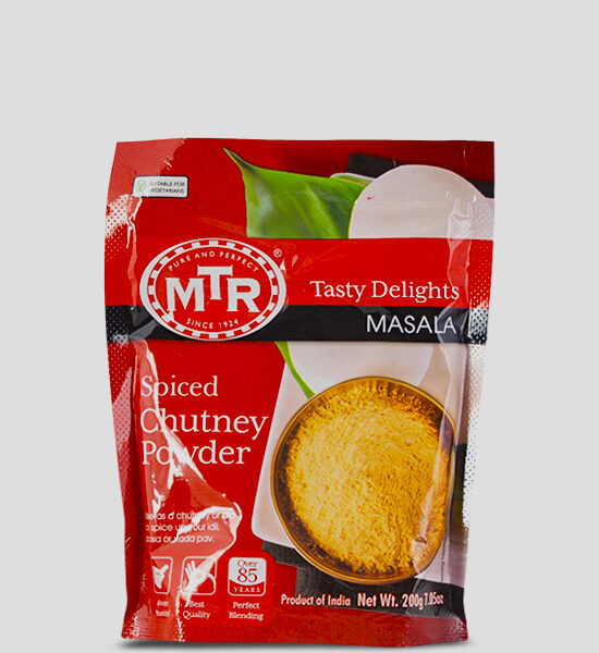 MTR Spiced Chutney Powder 200g Produktbeschreibung Spiced Chutney Powder - Spice up your dish with this authentic Chutney powder.