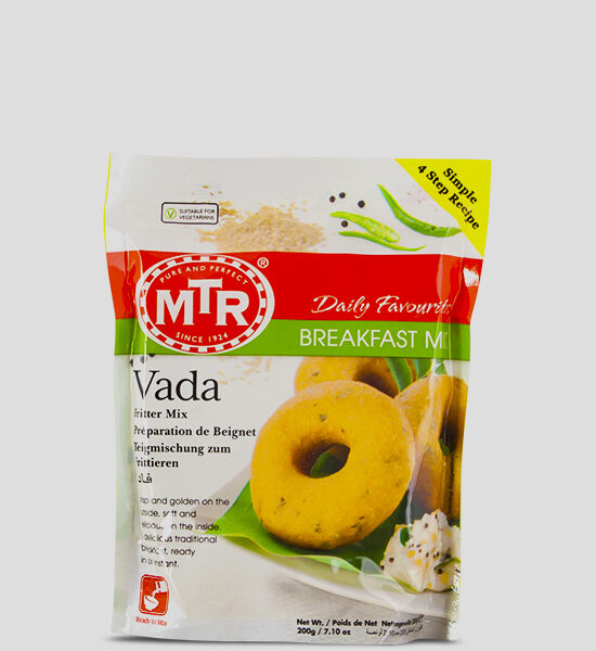 MTR Vada Mix 200g Produktbeschreibung Vada Mix - Spice up your dish with this authentic Vada Mix.