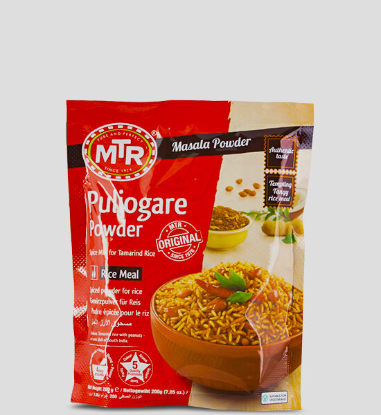 MTR Puliogare Powder 200g Produktbeschreibung Puliogare Powder - Spice up your dish with this authentic Puliogare powder.