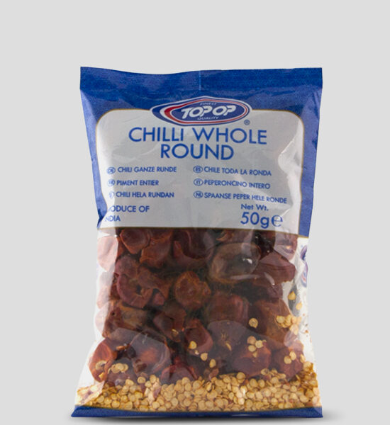 Top Op Chilli Whole Round 50g, Copyright Spicelands