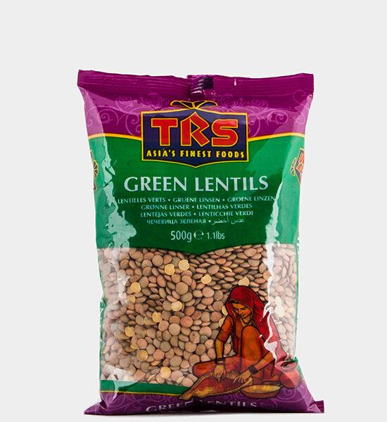 TRS Green Lentils 500g, Spicelands