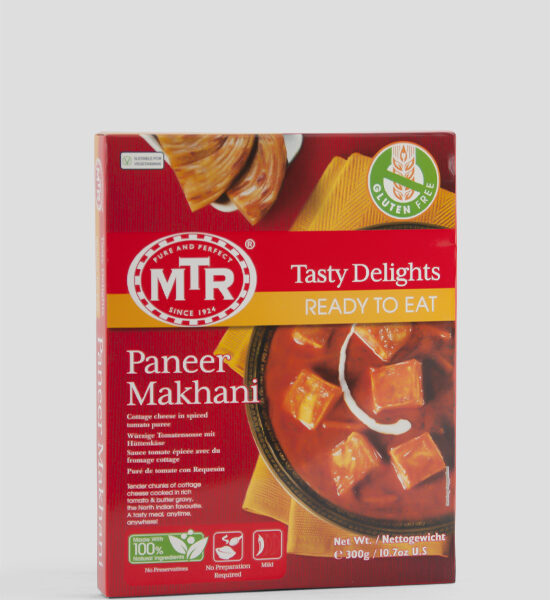 MTR, Paneer Makhani, Würzige Tomatensoße mit Hüttenkäse, 300g, Spicelands