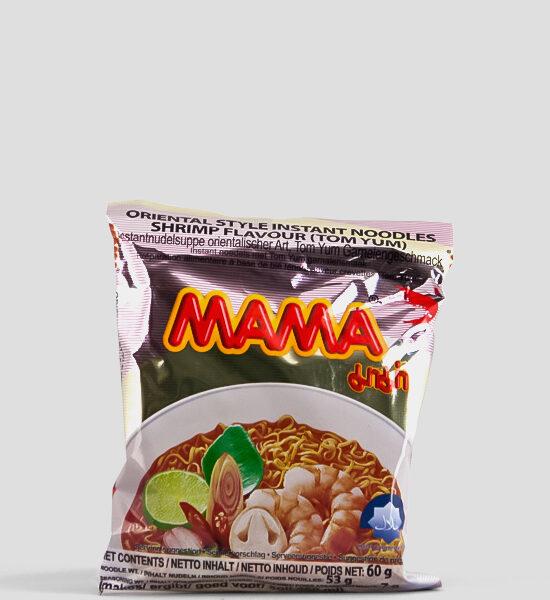 Mama, Tom Yum Shrimp, 60g Produktbeschreibung Instant Nudeln mit Tom Yum Garnelengeschmack.