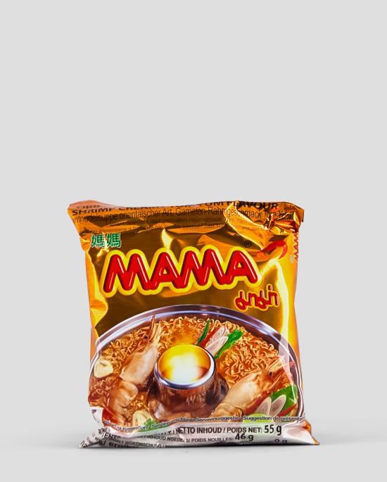 Mama, Tom Yum Shrimp Creamy, 55g Produktbeschreibung Instant Nudeln mit Tom Yum Garnelenrahmgeschmack.