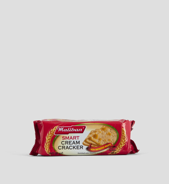 Maliban Smart Cream Cracker 190g Produktbeschreibung Biscuit lovers in Sri Lanka have grown up eating Maliban Cream Crackers. This biscuit is known for its crisp, crunchy texture and milky taste. The Cream Cracker is excellent when sandwiched with butter and jam or eaten with cheese.