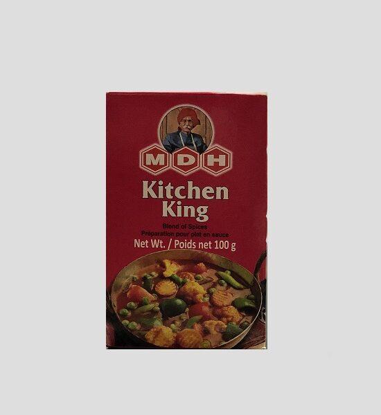 MDH Kitchen King 100g Produktbeschreibung Gewürzzubereitung für Gemüse mit Hüttenkäse. Die perfekt abgestimmte Gewürzmischung von MDH erleichtert Ihnen die Zubereitung indischer / pakistanische Küche. MDH Kitchen King