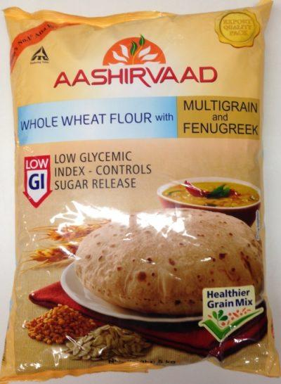 Ashirvaad Whole Wheat flour with Multigrain and Fenugreek is filled with goodness of healthy grain mix, it also helps you keep active.