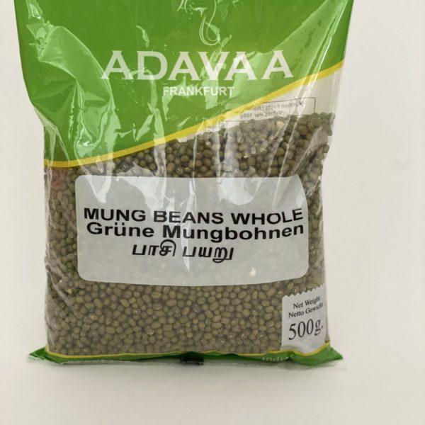 Adavaa ganze Mungbohnen Moong Beans Whole