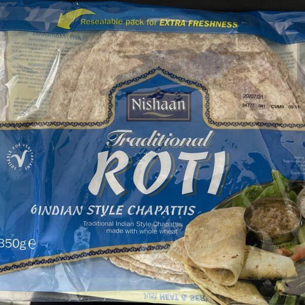 Nishaan Traditional Chapattis Roti 350g