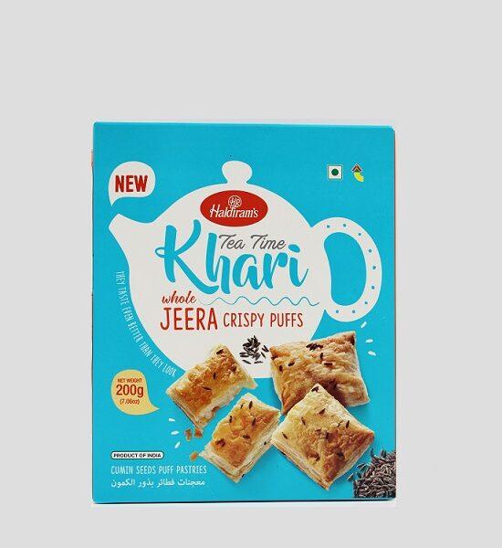 Haldirams Tea Time Khari Whole Jeera Crispy 200g