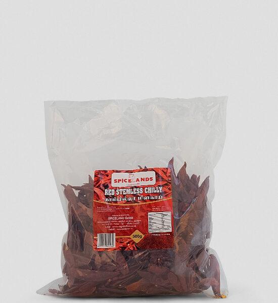 Spicelands getrocknete Chilli ohne Stiel - Red Stemless Chilli 500g