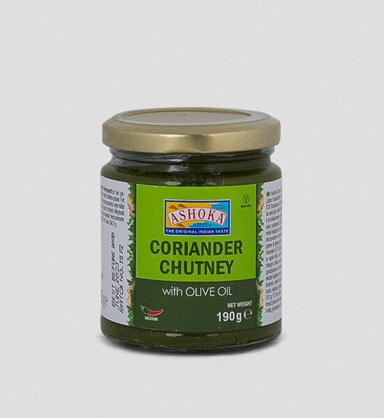 Ashoka Coriander Chutney mit Olivenöl 190g